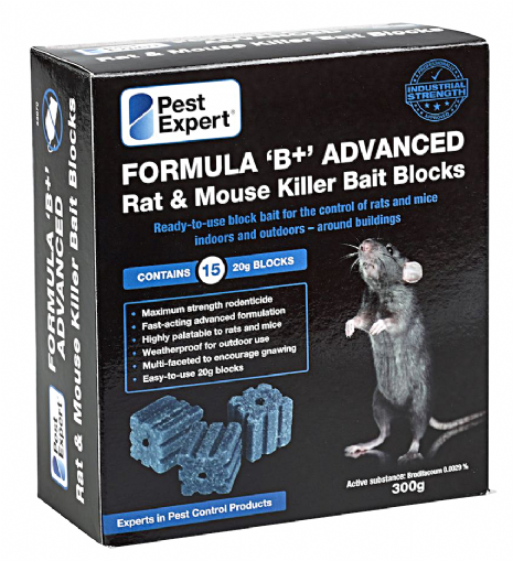 Rat Poison Bait Blocks 8 Pack/225g. Pest-Expert.com